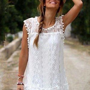 White Lace Dress - Beautiful Lace Detail